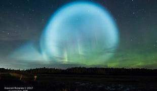 คนรัสเซียพากันฮือฮา แสงลูกกลมประหลาดโผล่อยู่ท้องฟ้า