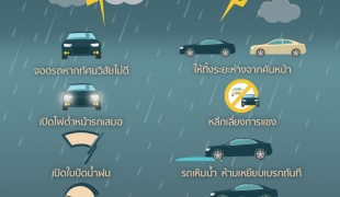 เรื่องต้องแชร์ : 8 วิธีขับรถช่วงฝนตก ลดความเสี่ยงอุบัติเหตุ