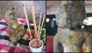 """ชาวนาเมืองสุรินทร์...ขุดพบ """"พระพุทธรูปโบราณ"""" อายุกว่า 1 พันปี !!! เชื่อสร้างในสมัยพระเจ้าวรมัน"""