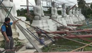 พายุฝนถล่มเมืองกาญจน์เสียหายรุนแรงในรอบ30ปี