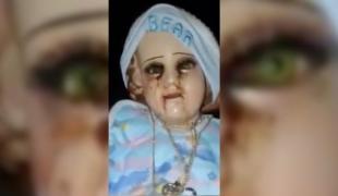 ฮือฮา รูปปั้นเยซูน้อยในเม็กซิโก หลั่งน้ำตาเป็นเลือด ครั้งที่ 4 ในปีนี้