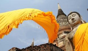 ชาวพุทธไทย-เทศ นับพันคนจากทั่วสารทิศ ร่วนงานบุญใหญ่ ห่มผ้าองค์พระเจดีย์ วัดใหญ่ชัยมงคล...