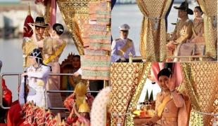 ภาพประทับใจ พระราชินีทรงจัดพระมาลาเส้าสูงถวายในหลวง