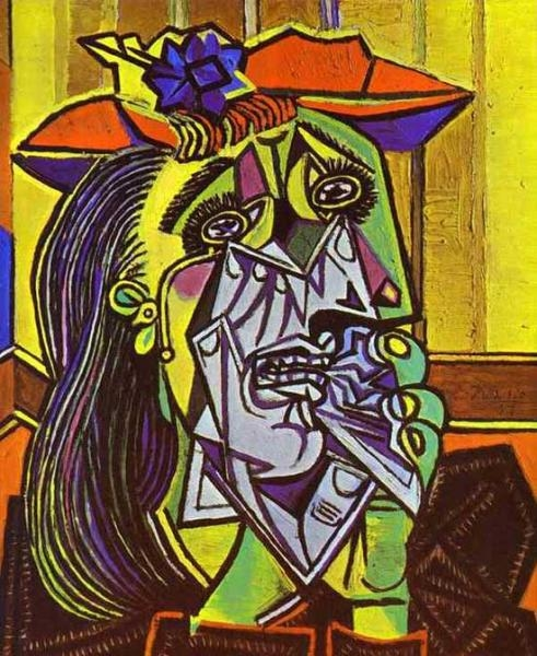 picasso weeping woman 1937