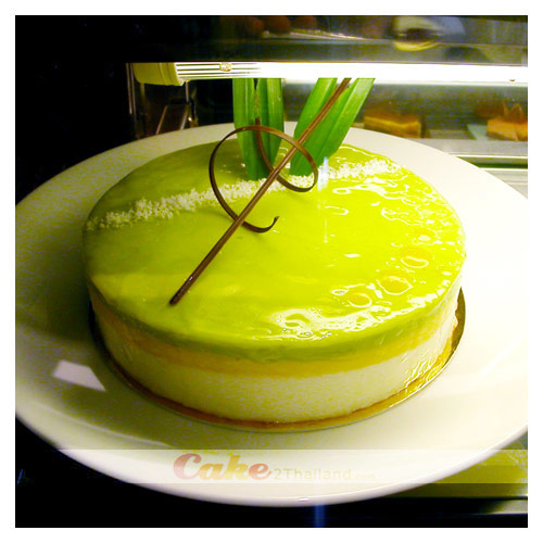 Pandan, Coconut Mouse Passion%20Cake