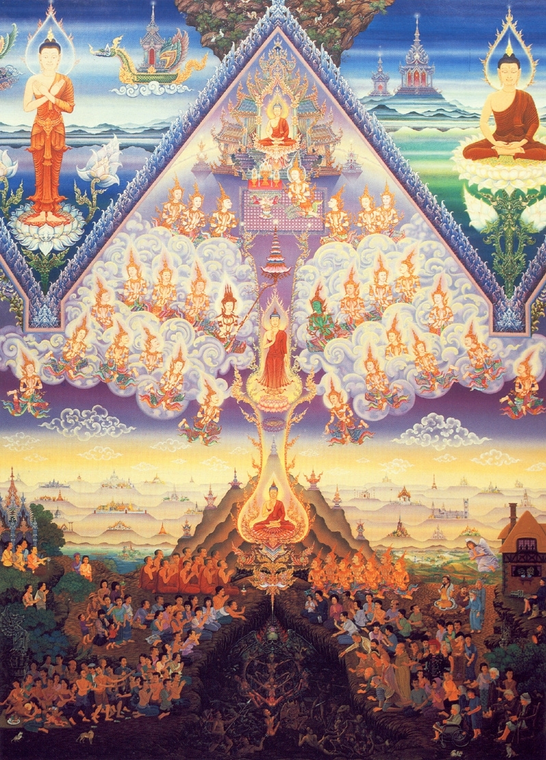 Lord Buddha Descending from Heavens. (Chalemchai Kositphiphat)