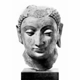 Buddha 4Th-7Th Century Nfragment Of A Stucco With Polychrome Head Of Buddha 4Th-7Th Century From...