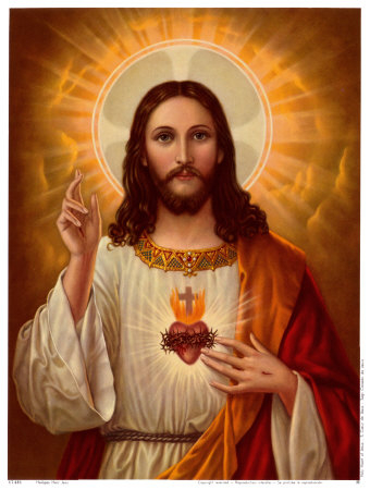 17431~Sacred Heart of Jesus Posters