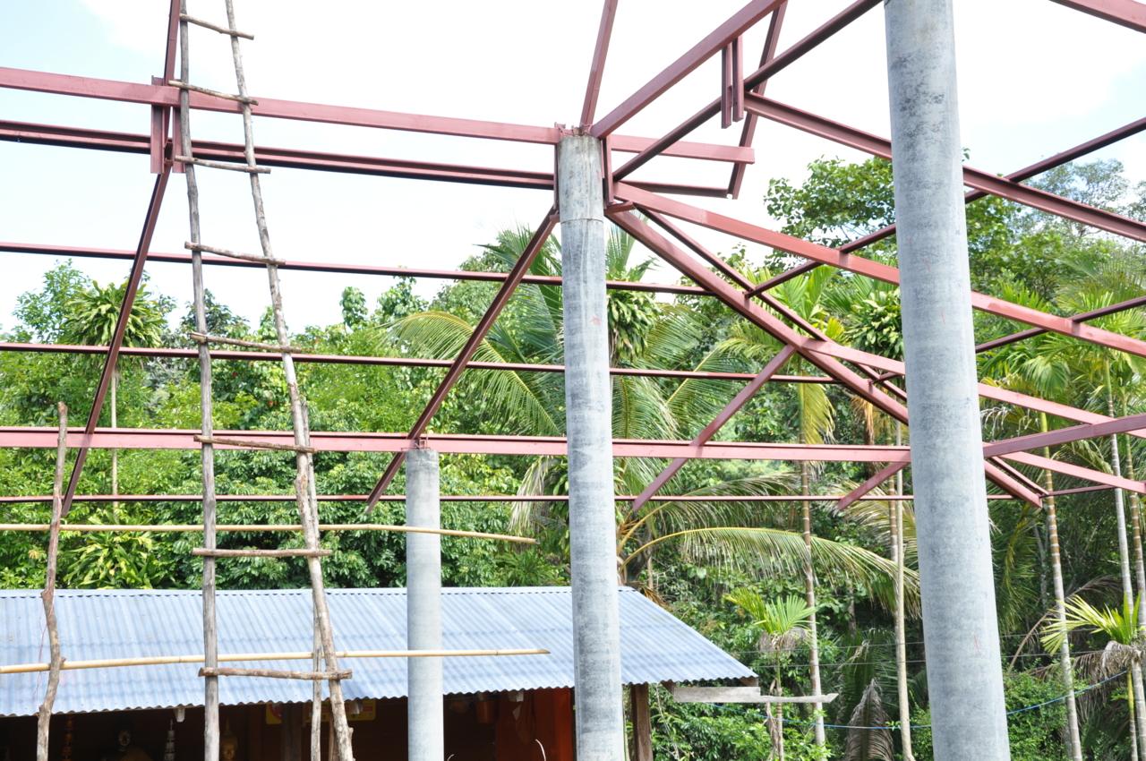 วัดบ้านขัวสูงกำลังสร้างศาลา
