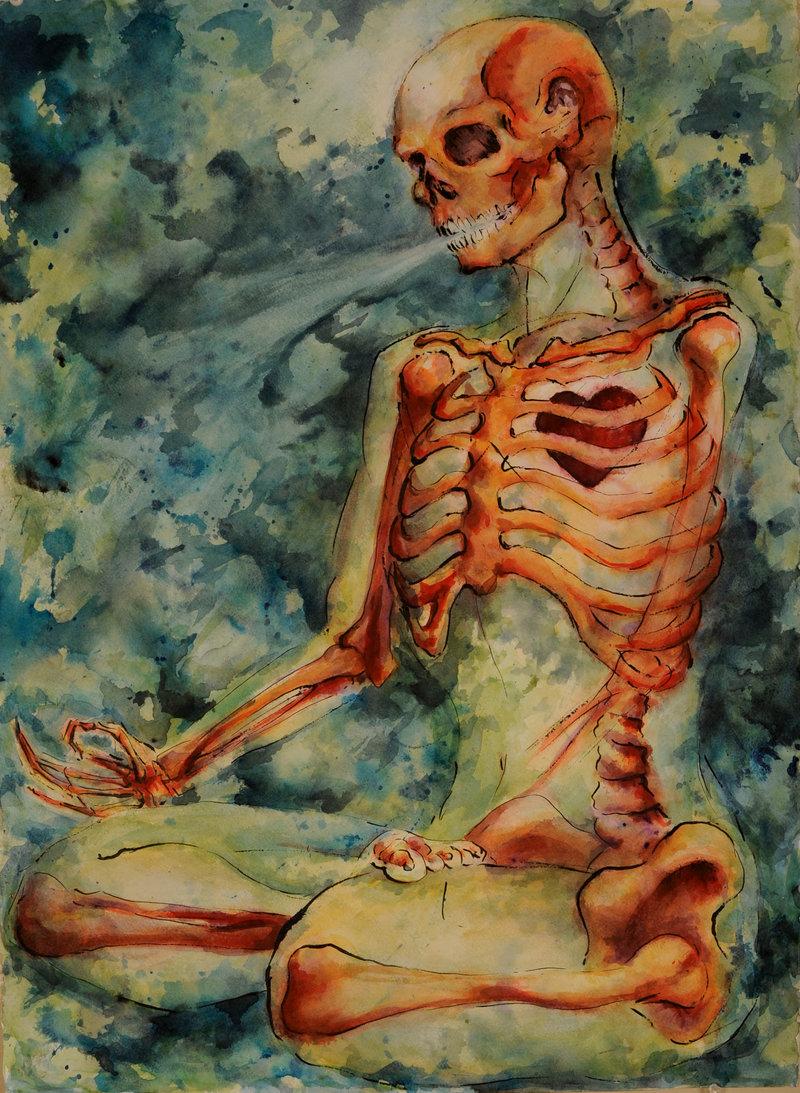 Zen Skeleton by Quilsnap