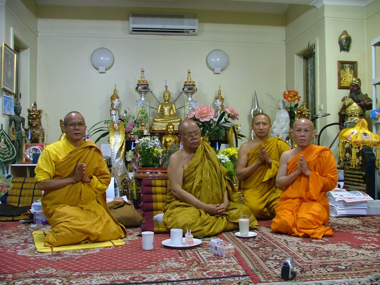 Buddhist Monks at Wat phrayortkeo 14