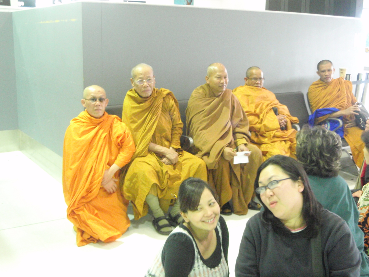 Buddhist monks at Airport Sydney 16