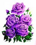 Raindrops Series 2 Purple Roses 1152585348t