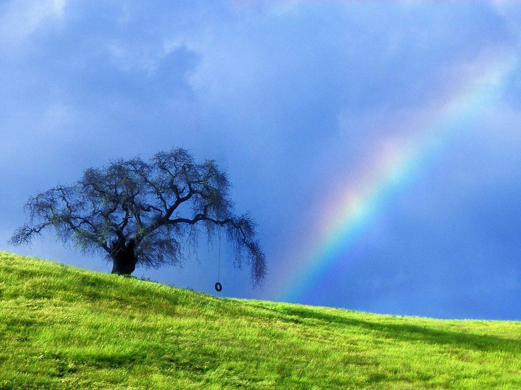 rainbow over a hill 1761