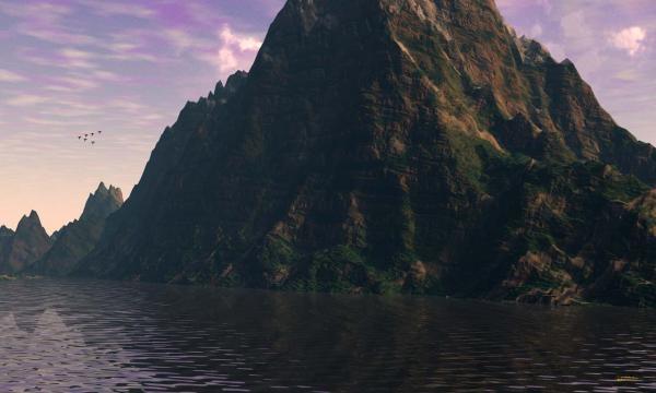 Huge Mountain Large