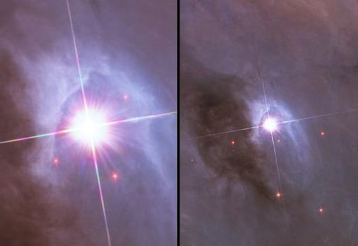 3Orion Nebula   Hubble 2006 mosaic comparison