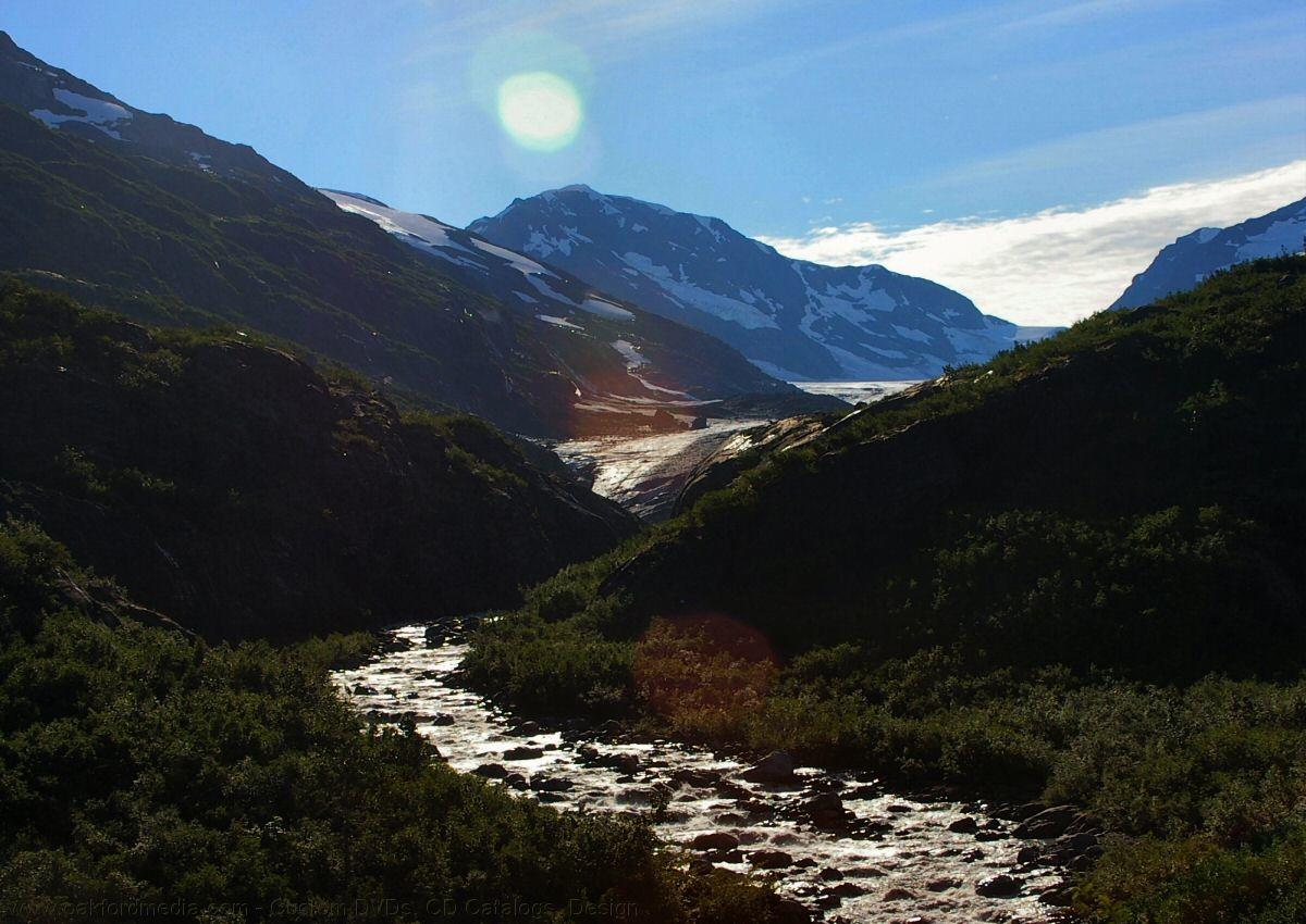 alaskan glacier brook