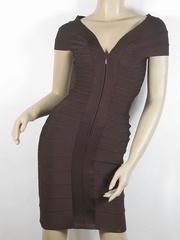 Herve Leger V Neck Bandage DressH032