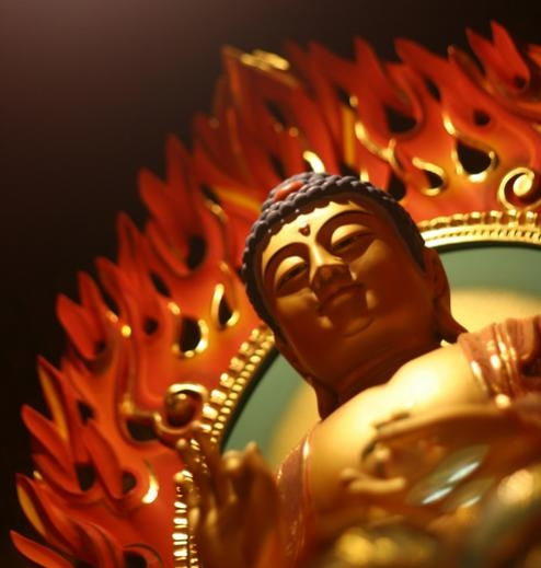 flaming buddha