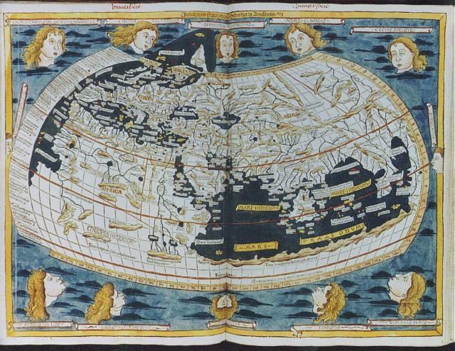 Ancient world map 1482