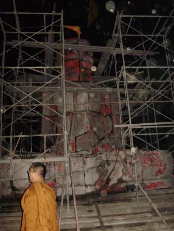 พระหน้าตัก 5.5 เมตรองค์แรกที่หลวงพี่จัดสร้างเอง นานแล้วที่พระพุทธบาทเขาน้อย จ. สระบุรี