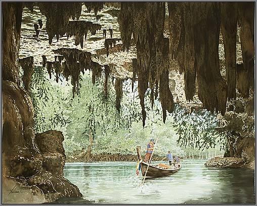 cavezu8 Watercolor Painting Somboon Phoungdorkmai