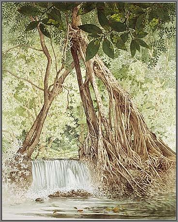 watertreesd5 Watercolor Painting Somboon Phoungdorkmai