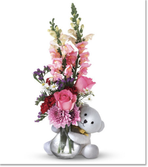 large bear hug bouquet