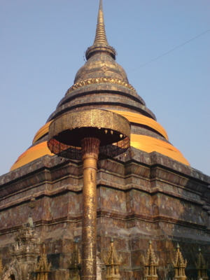 ตอนเช้าวันที่24เรามาถึงที่ลำปางเเวะนมัสการพระธาตุปางหลวง