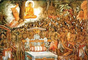 buddha great face left