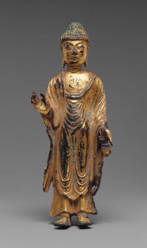 Korea Standing Buddha 8th century