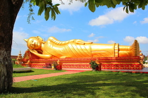 reclining Buddha  Lao