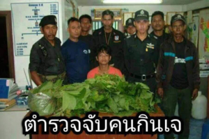 Police caught veggie guys