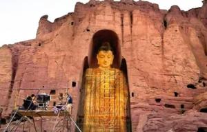 3D world famous buddha of Bamiyan