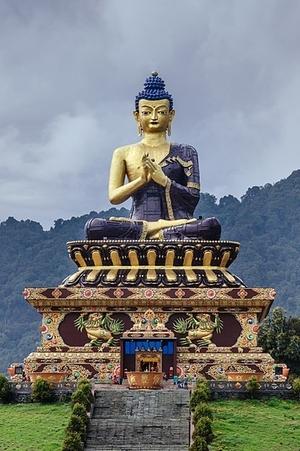 Buddha statue in Buddha Park of Ravangla, Sikkim