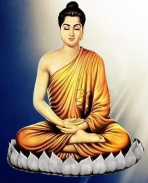 Buddhaonwhitelotus
