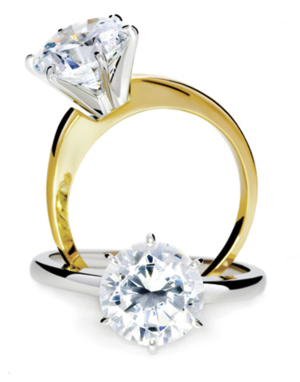 simulated diamond rings jewellery standard