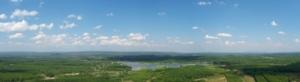 จากภูทอกมองไปทางตะวันออกทางลาวทางนครพนม