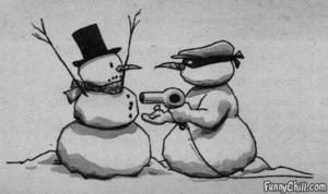 snowman stickup