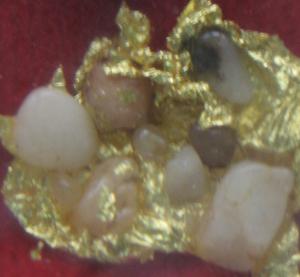 พระบรมสารีริกธาตุ ใช้แผ่นทองคำเปลวถวายบูชาฯ