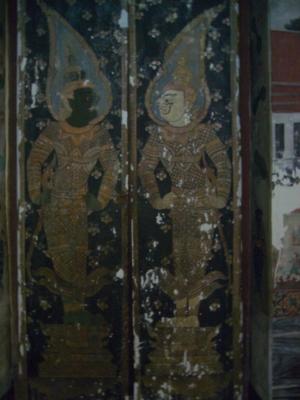 ภายจิตรกรรมฝาผนังในอุโบสถวัดเสนาสนารามวรวิหาร