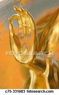 hands golden buddha ~C75 331603