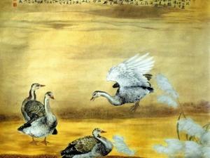 Chinese painting ZouChuanAn Flowerbird 9c wallcoo com