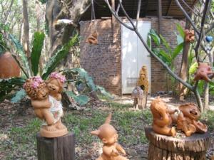 DSCF3614 สวนหน้าห้องน้ำแบบบ้านดิน
