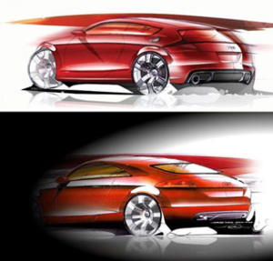 Audi TT Sketch 2