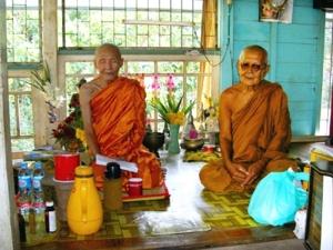 หลวงปู่พิศดู ธัมมจารี กับ หลวงปู่สนั่น จิณณธัมโม