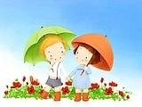 illustration art of children B10 PSD 048s
