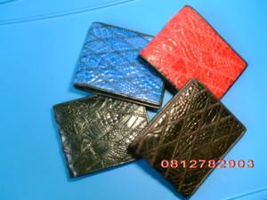 กระเป๋าหนังจระเข้ ซิกแซก สีดำ/แดง/น้ำตาล/น้ำเงิน