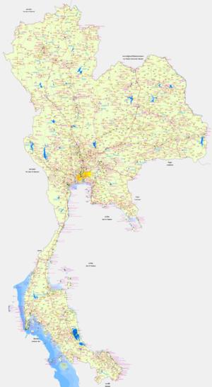 แผนที่ประเทศไทยความละเอียดสูง