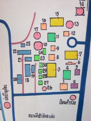 แผนที่บริเวณวัดสะแล่ง